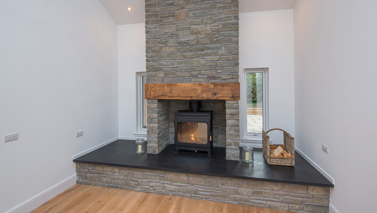 Denfind Stone Fireplace